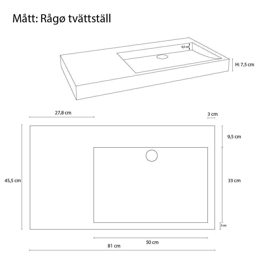 Tvättställ Rågø, Rock Solid™