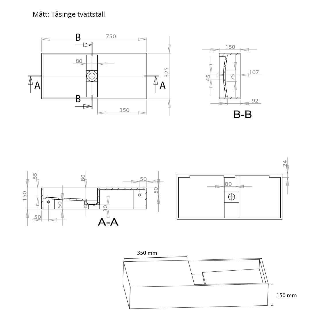 Tvättställ modell Tåsinge