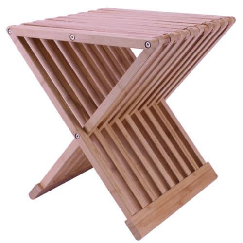 hopfällbar stol i bambu