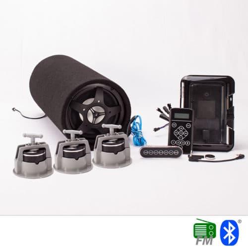 Inbyggd stereo för utomhusspa