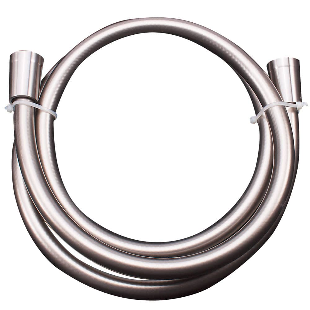 Duschslang i stålfärgad PVC