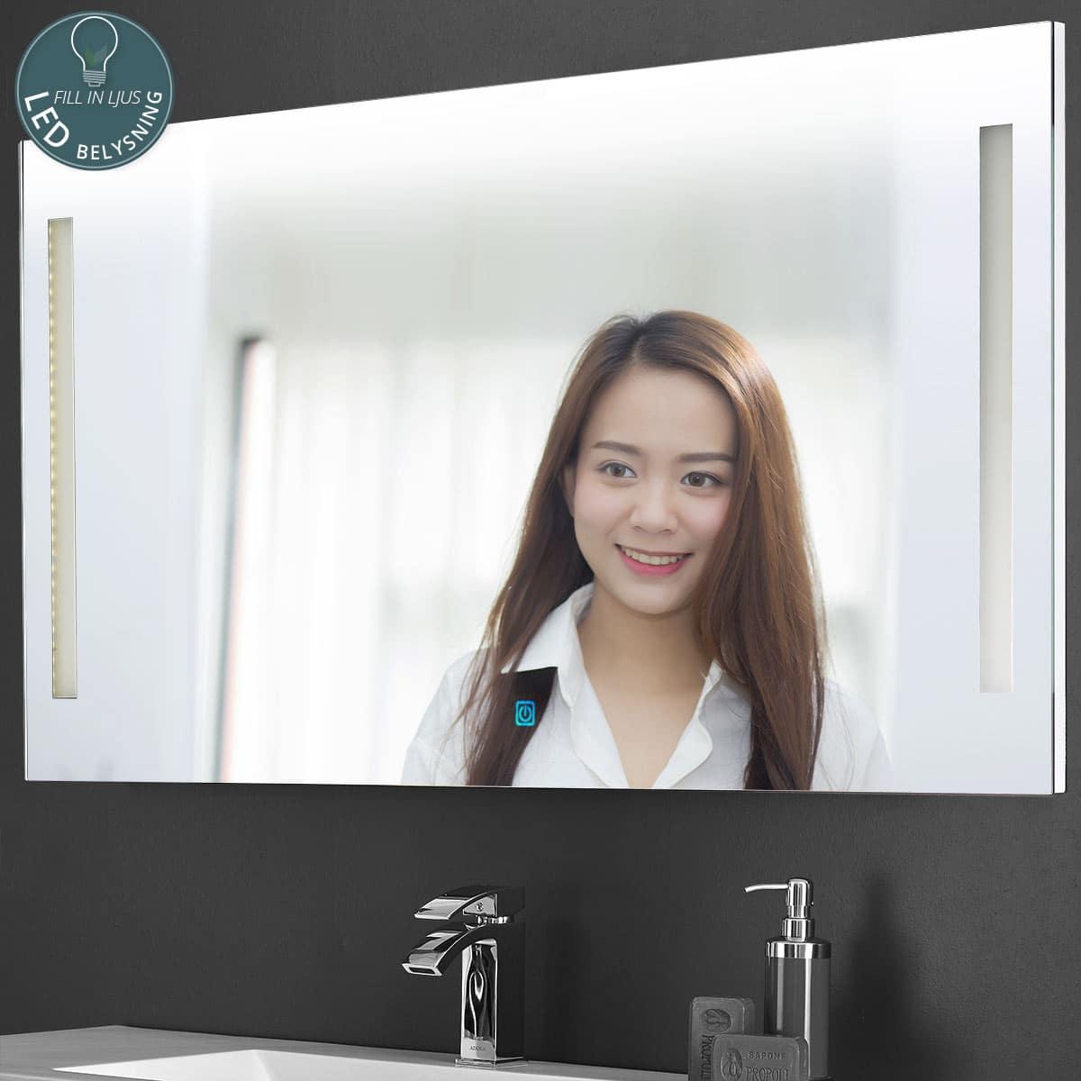 Slimline LED spegel