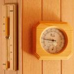 Hygrometer, termometer och sandur