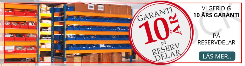10 års garant på reservdelar