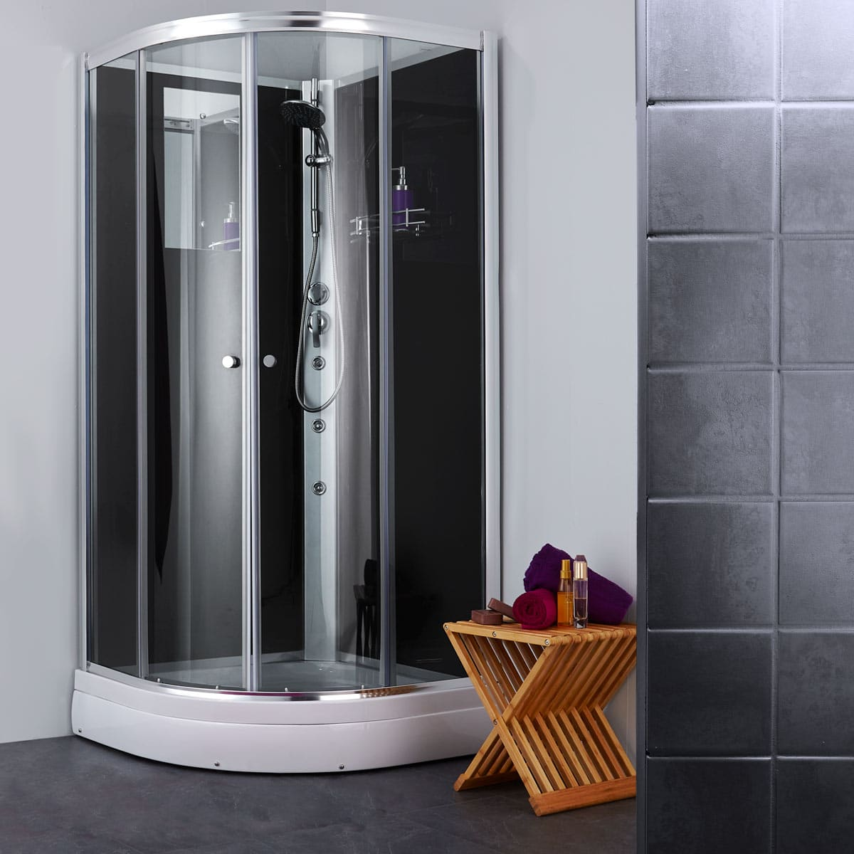 Diamind duschkabin med klart glas