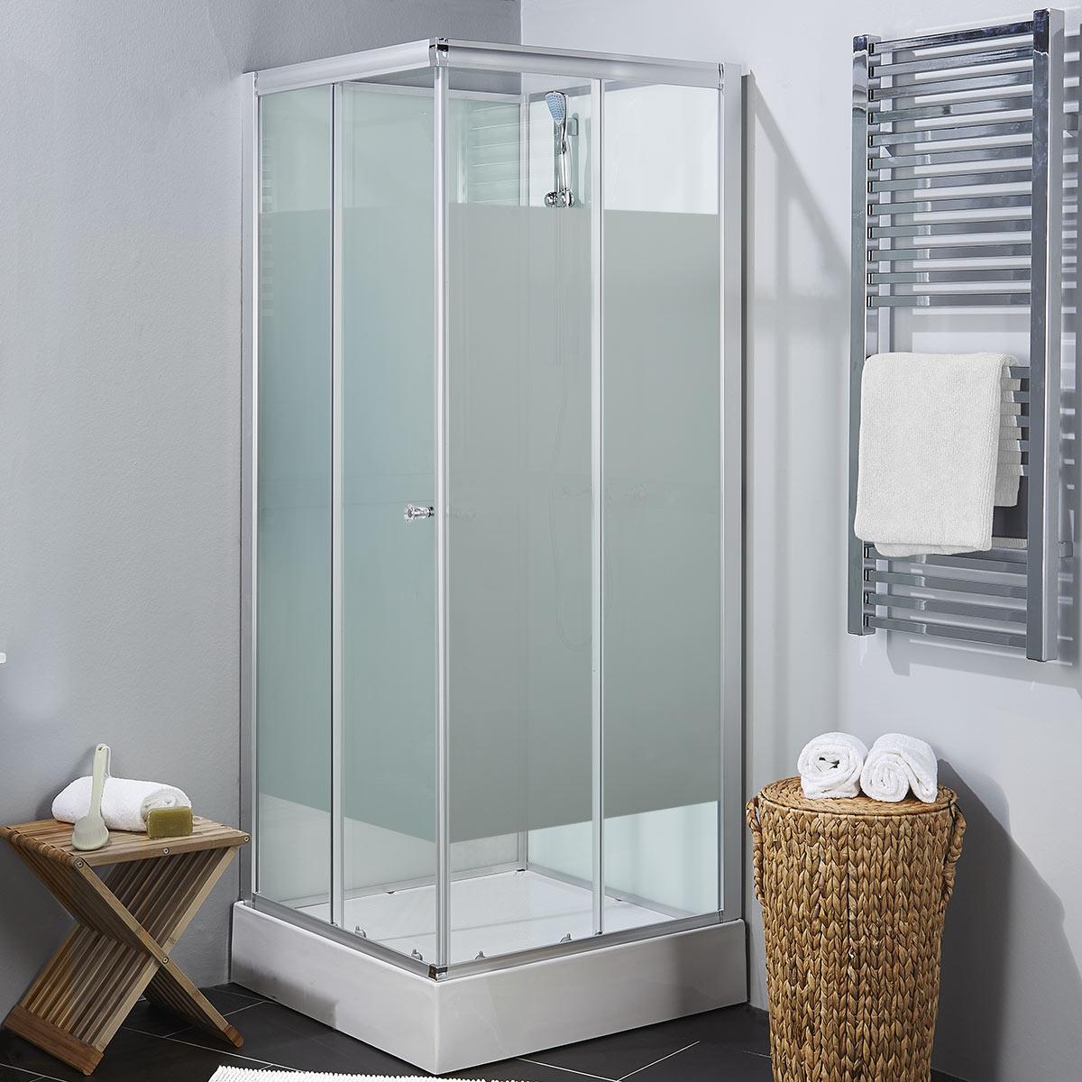 Art 80F duschkabin med frostat glas glas