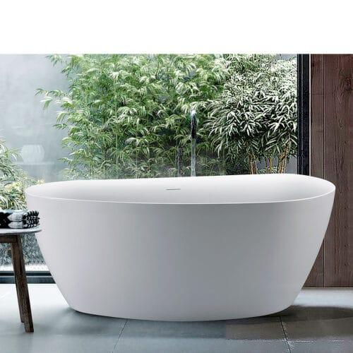 Nordkap badkar i matt sanitetsakryl
