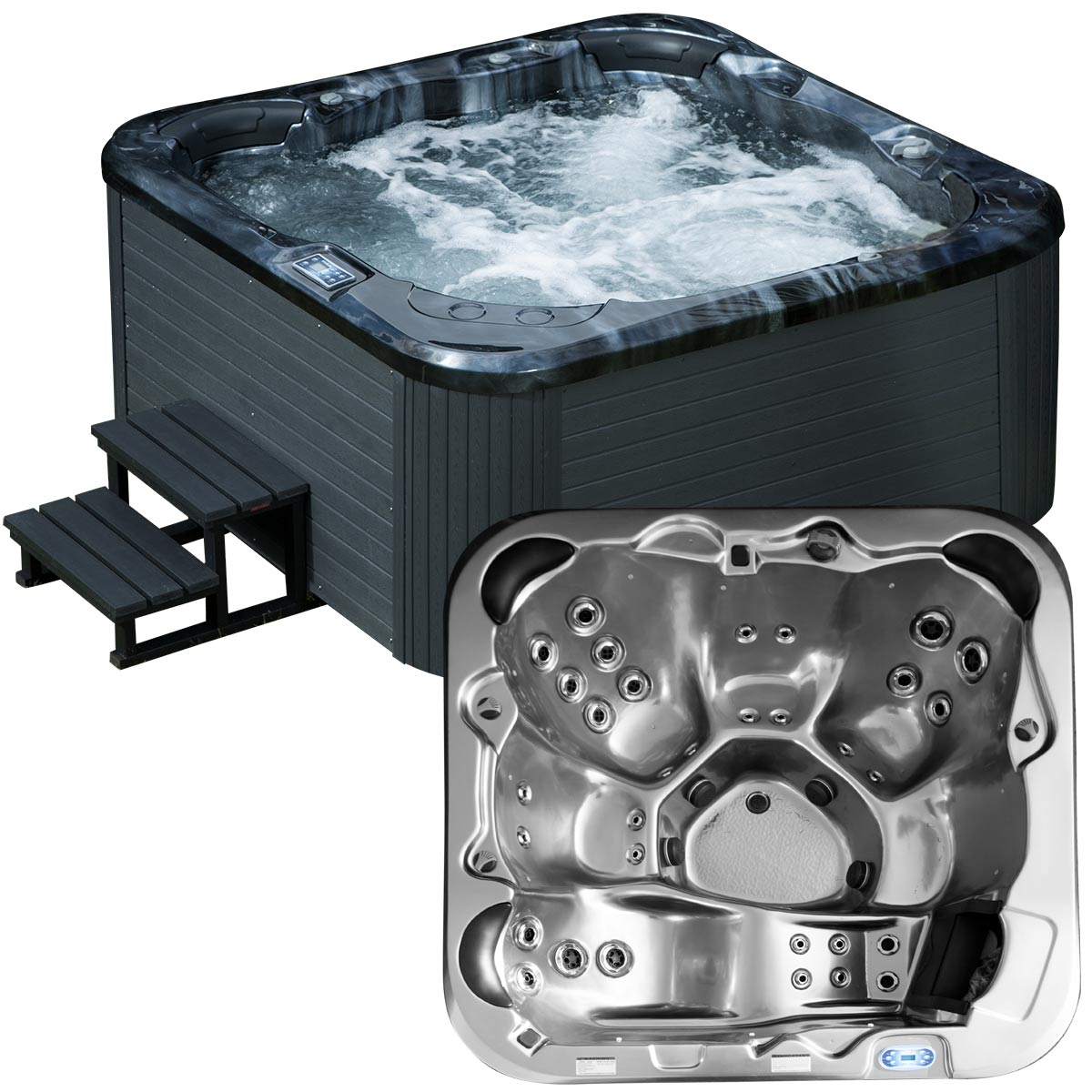 Utomhusspa modell Matinique Steel