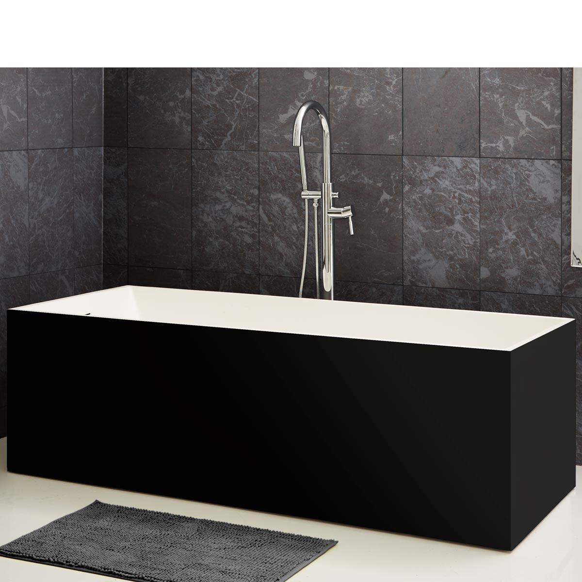 Stenbadkar modell Badia svart
