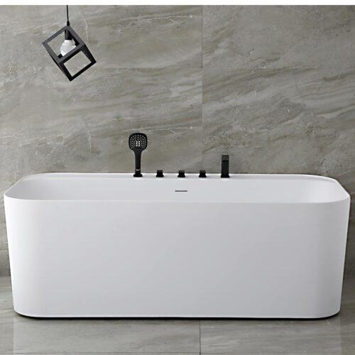 Mattsvart blandare och dusch